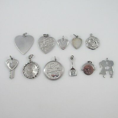Love Charms Vintage Sterling Silver | Lot of 11 | 31.6g