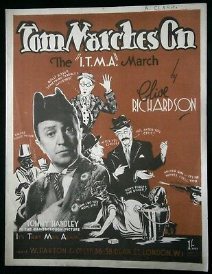 1944 ITMA sheet music Tommy Handley Tom Marches On I.T.M.A.