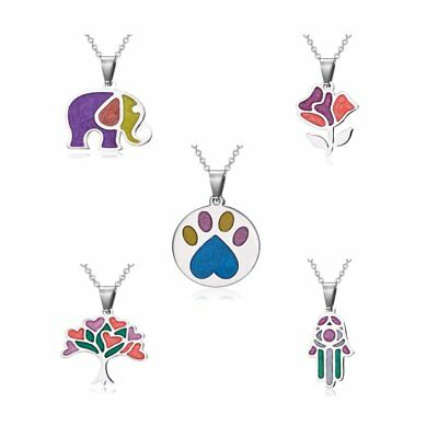 Womens Stainless Steel Elephant Flower Tree Pendant Necklace Chain Jewelry Gift