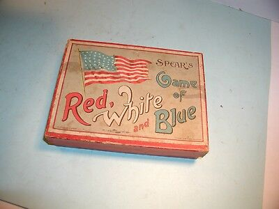 """Early 1900's  """" Game of Red, White and Blue """" by Spear's"""