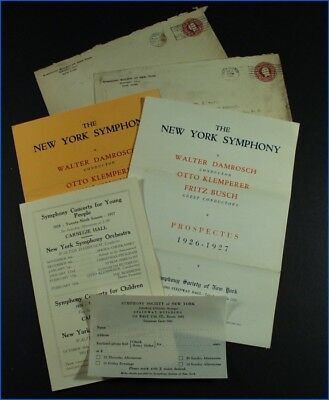 Vintage 1926-27 New York Symphony Prospectus Flyers, Concert For Young People