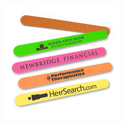 NEON EMERY BOARDS / NAIL FILES - 1,500 quantity - Custom Printed with Your Logo