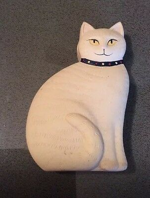 Vintage Ceramic Cat Trinket Box by Crowning Touch Japan
