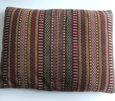 Vintage Swedish handwoven wool tapestry cushion cover, traditional weaving style