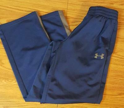 Boys YMD 10/12 Under Armour Royal Blue & Gray Graphic Storm Sweatpants M