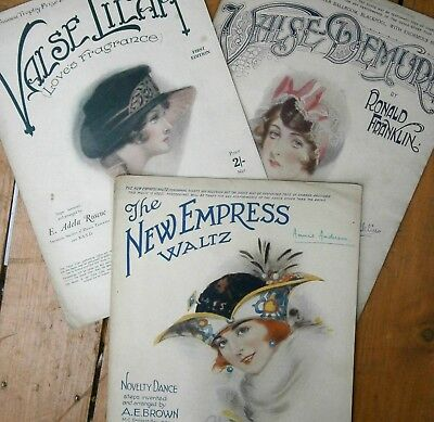 1919 -1921 3 music sheets Blackpool  Tower Ballroom Winter Gardens sheet music