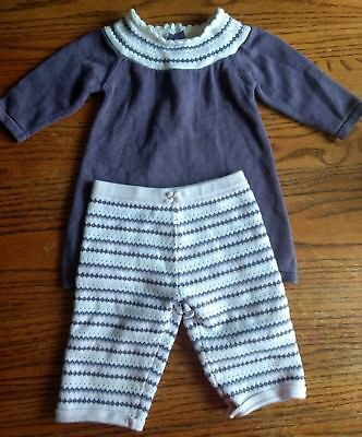 Janie and Jack Layette Winter Pant & Sweater Set Girls DIFFERENT SIZES 3-6 6-12