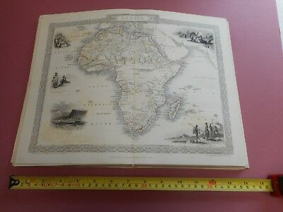 100% Original Africa  Map By Tallis C1855 Vgc St Helena Madagascar
