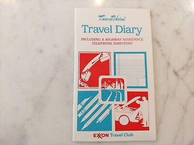 Vintage Exxon Travel Club Diary