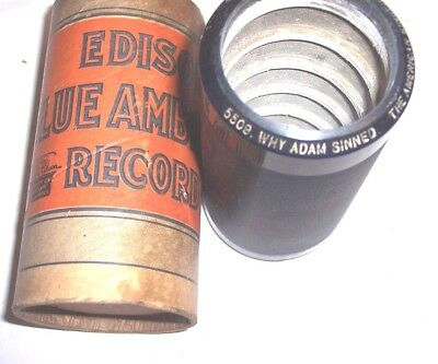 """EDISON PHONOGRAPH 4m RECORD #5509 , """" WHY ADAM SINNED """" , THE AMERICAN SINGERS"""