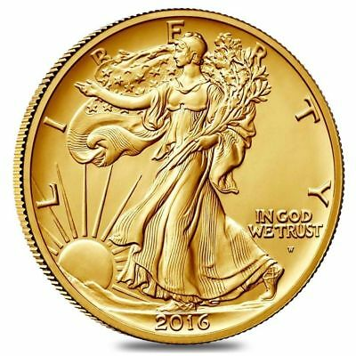 2016-W WALKING LIBERTY HALF DOLLAR CENTENNIAL GOLD COIN (16XA) Sealed Box*