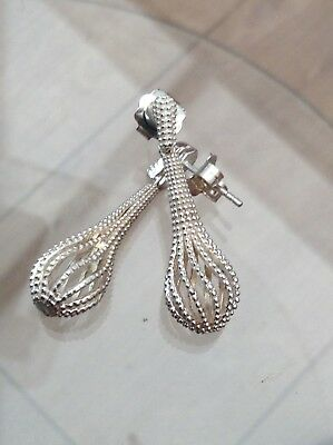 Silver Bobbly Earrings Gorgeous Design