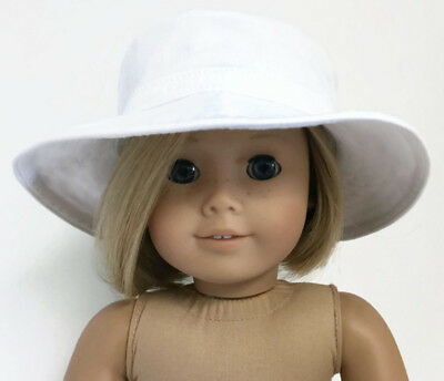White Canvas Hat Accessories fits 18 inch American Girl Doll Clothes