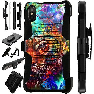 Lux-Guard For iPhone 6/7/8 PLUS/X/XR/XS Max Phone Case Cover FANTASY TIGER HALF