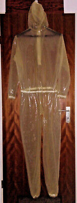 Latexkleidung Catsuit Anzug transparent XXL Überbreite RV Maske unisex gender