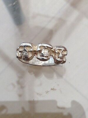 Silver Skull Ring Excellent (Q)