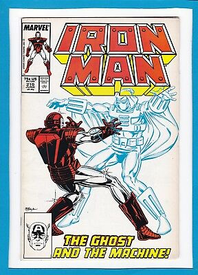INVINCIBLE IRON MAN #219_JUNE 1987_VERY FINE+_1st APP THE GHOST_JIM RHODES!