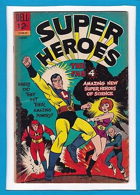 """Super Heroes #1_January 1967_Very Good Minus_""""the Fab Four""""_Silver Age Dell!"""