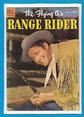 The Flying A's_Range Rider #9_March/may 1955_Fine+_Silver Age Dell Western!