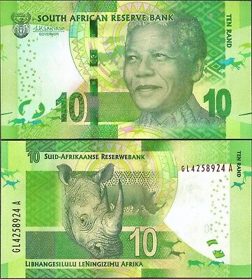 South Africa -  R10  - Nelson Mandela Banknote - Kganyago Signature, UNC.