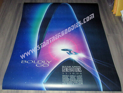 "Star Trek: Generations THEATER POSTER 40""x50"" Plastic Made for Lightboard MINT!"