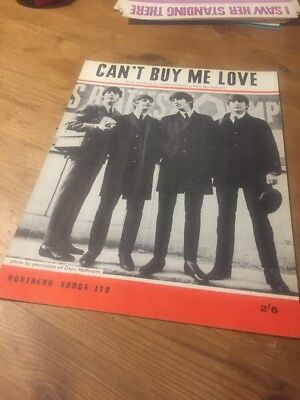 Can't Buy Me Love - The Beatles - 1964 Sheet Music