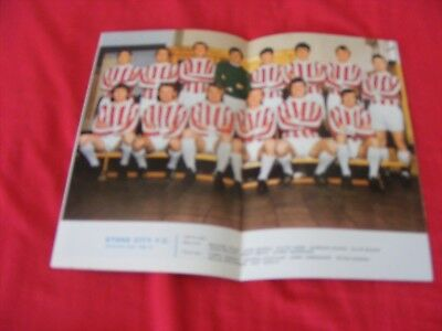 Stoke City Team Poster 1969-70 Centre Of F/ball Lg. Review