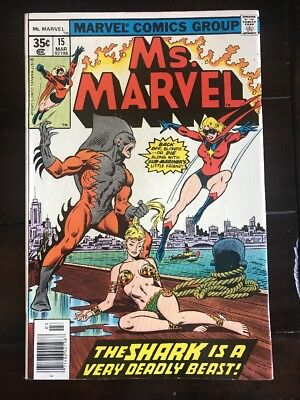 Ms. Marvel #15 VF/NM CAPTAIN MARVEL - MOVIE COMING GET YOURS! COMIC BOOK 1977