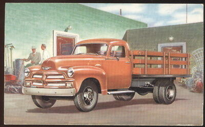 1954 Chevrolet Truck Advertising Post Card, Stake Truck