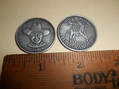 Lone Ranger & William Boyd Hopalong Cassidy Good Luck Coins or Tokens