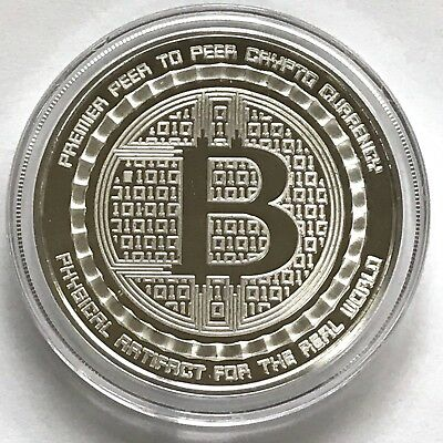 Bitcoin Guardian 1 oz .999 fine Solid Silver Commemorative Digital AI Rare NEW