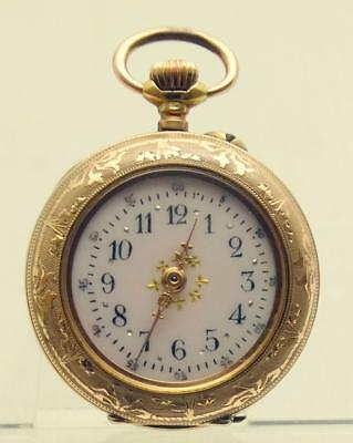 Exquisite Victorian Solid 14ct Solid Gold Cased Fob Watch.