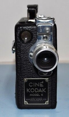 Vintage Cine Kodak Model K 16mm Movie Camera with literature and spring