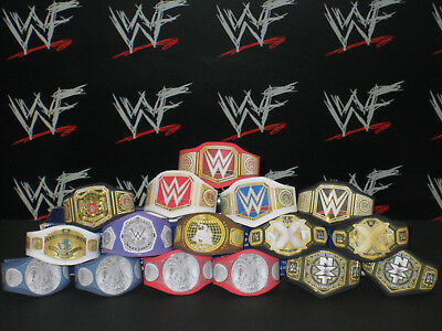 16 x Custom WWF WWE NXT Title Belts For Hasbro Mattel Retro Wrestling Figures