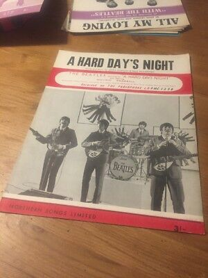 The Beatles  A Hard Day's Night Sheet Music (1964) England