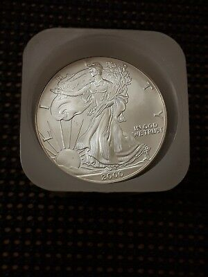 2000 American Silver  Eagle  1oz Uncirculated Mint Tube Of 20
