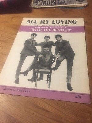 All My Loving - The Beatles - 1963 Sheet Music