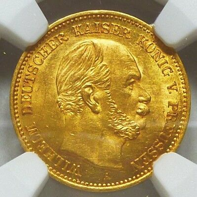 Germany Prussia Gold 5 Mark 1877-A MS 63 NGC