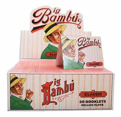 Big Bambu Classic 50 Booklet Packs Cigarette Rolling Papers Brand New & Sealed!
