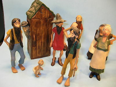 AWESOME! 8 Piece HAND CARVED OZARK HILLBILLY FAMILY SEE PICS!!!