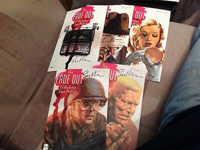 The Fade Out 1-5 By Ed Brubaker & Sean Phillips. Signed By Phillips On Covers