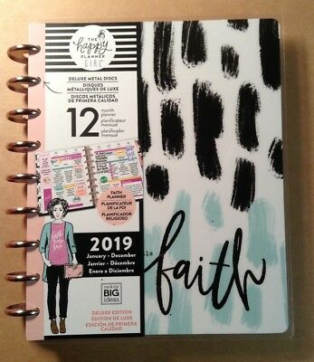 """NEW Happy Planner the happy planner girl """"FAITH WARRIOR"""" CLASSIC 12 Mo. Planner"""