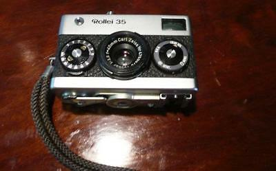 vintage ROLLEI 35 small camera made in Germany CARL ZEISS TESSAR 3.5 40mm lens