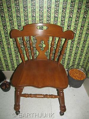 Tell City Tanbark Oak Mate Side Dining Room or Desk Chair  1409 Made in America