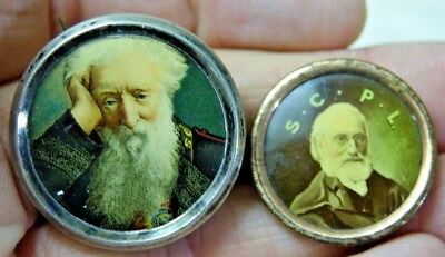 2 Very Old Badges S.c.p.l Beared Gent - Info Welcome - Rare - L@@k