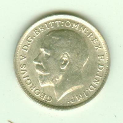 British Silver Uncirculated 1912 3 Pence-Lot D3