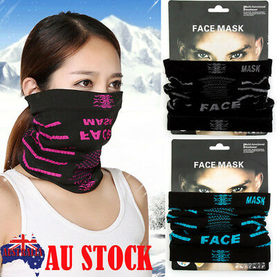 Cycling Motorcycle Head Scarf Neck Warmer Face Mask Riding Sports Half Face Neck