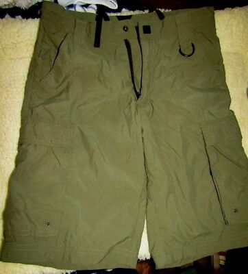 Older Boy Scouts of America Centennial Uniform Short Green Nylon cargo Sz Y XL