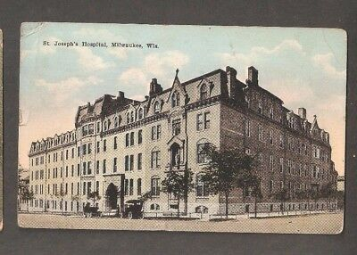 Vtg Postcard Milwaukee Wis St Joseph's Hospital WI Wisconsin 1924 Early