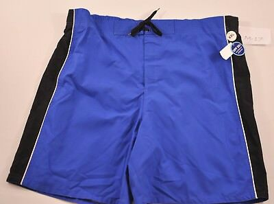 "MEN'S Dream Wave royal blue swim suit size XX Large 9"" inseam elastic back new"